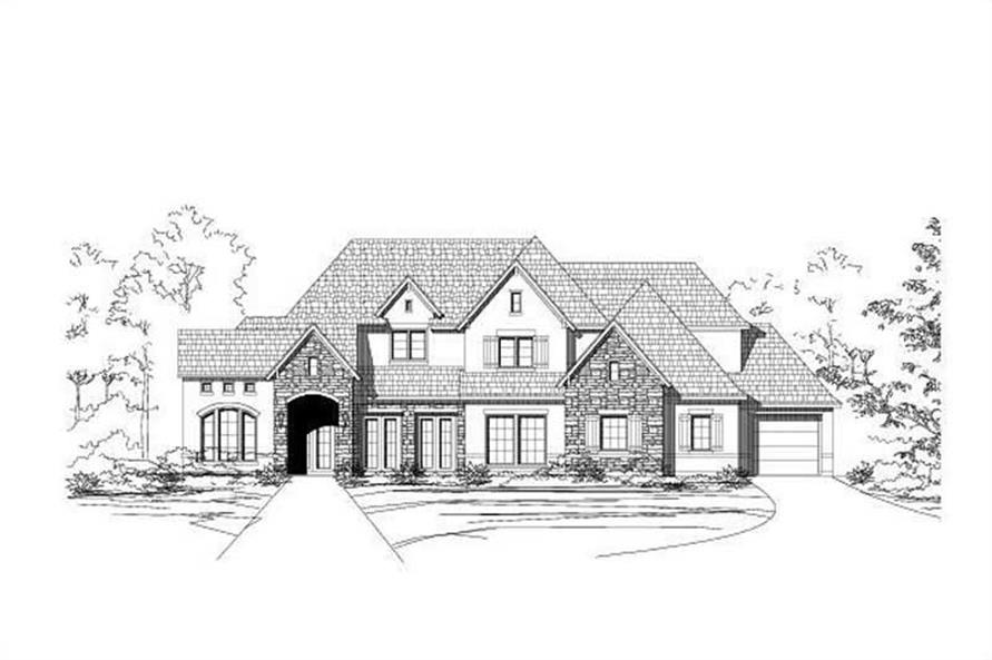 5-Bedroom, 5095 Sq Ft Country Home Plan - 156-1047 - Main Exterior