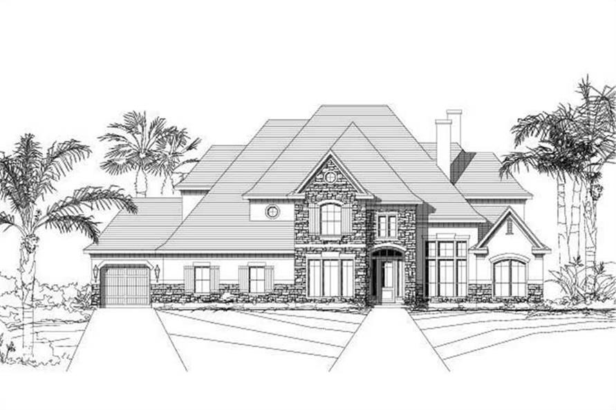 5-Bedroom, 5017 Sq Ft Country Home Plan - 156-1048 - Main Exterior