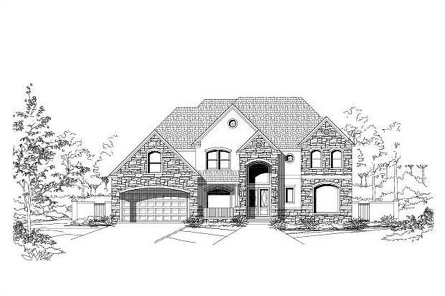 5-Bedroom, 5001 Sq Ft Country Home Plan - 156-1049 - Main Exterior