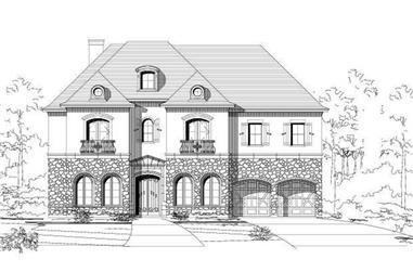 3-Bedroom, 4926 Sq Ft Country House Plan - 156-1050 - Front Exterior