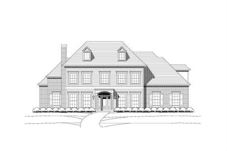 5-Bedroom, 5095 Sq Ft Luxury House Plan - 156-1052 - Front Exterior