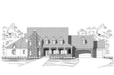 4-Bedroom, 5078 Sq Ft Country House Plan - 156-1053 - Front Exterior