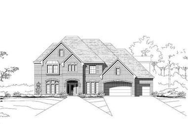 5-Bedroom, 4881 Sq Ft Luxury Home Plan - 156-1054 - Main Exterior
