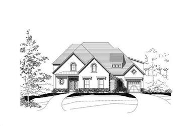 4-Bedroom, 4322 Sq Ft Farmhouse House Plan - 156-1055 - Front Exterior