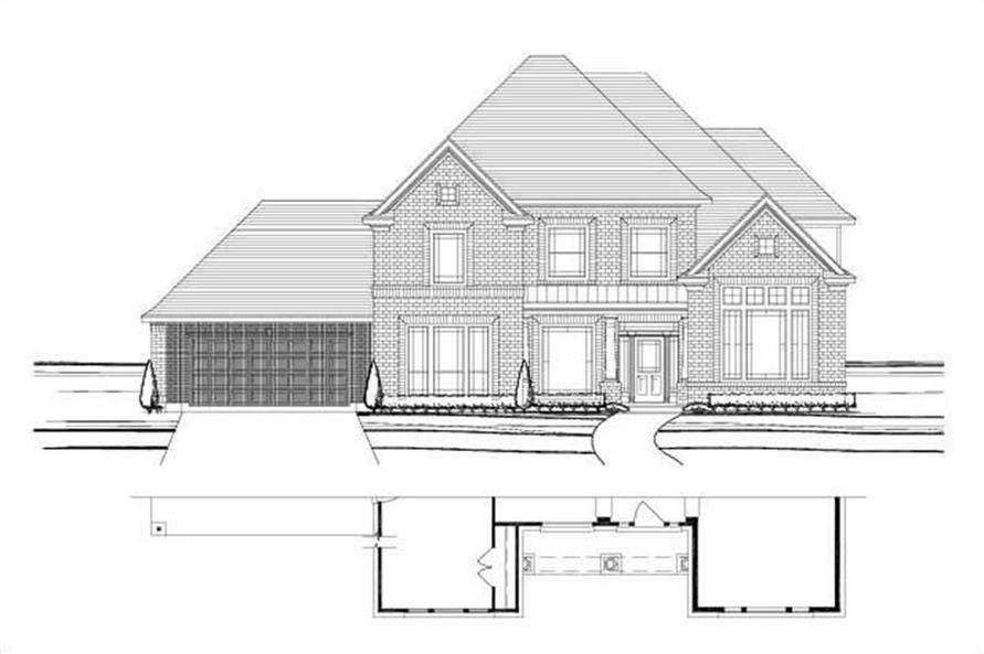 5-Bedroom, 4148 Sq Ft Luxury Home Plan - 156-1056 - Main Exterior
