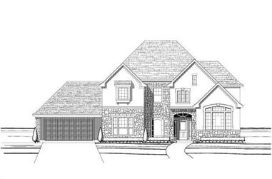 5-Bedroom, 3730 Sq Ft Country Home Plan - 156-1057 - Main Exterior