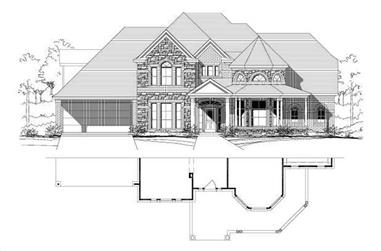 5-Bedroom, 4805 Sq Ft Luxury Home Plan - 156-1058 - Main Exterior