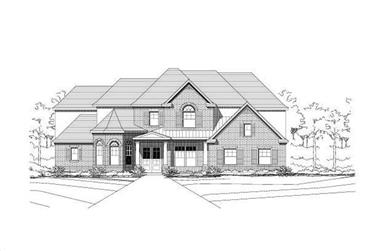 5-Bedroom, 4398 Sq Ft Luxury Home Plan - 156-1059 - Main Exterior