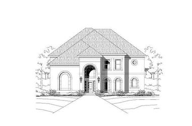 4-Bedroom, 4196 Sq Ft Luxury House Plan - 156-1060 - Front Exterior