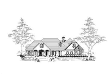 4-Bedroom, 4241 Sq Ft Country Home Plan - 156-1061 - Main Exterior