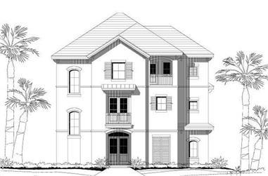 4-Bedroom, 2791 Sq Ft Coastal Home Plan - 156-1062 - Main Exterior