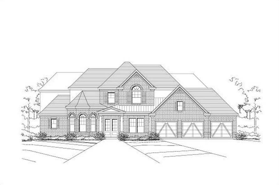 4-Bedroom, 4159 Sq Ft Luxury Home Plan - 156-1063 - Main Exterior