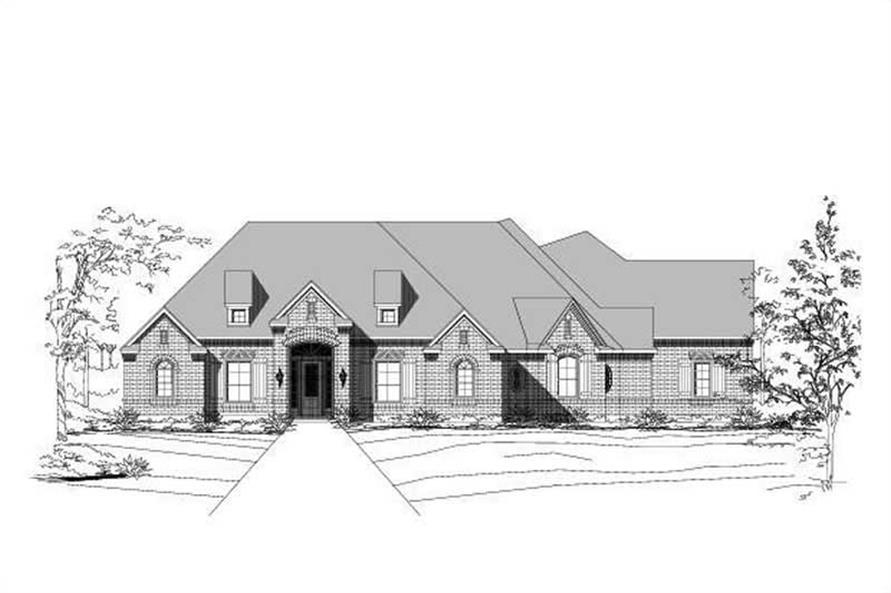 3-Bedroom, 3205 Sq Ft Ranch Home Plan - 156-1064 - Main Exterior