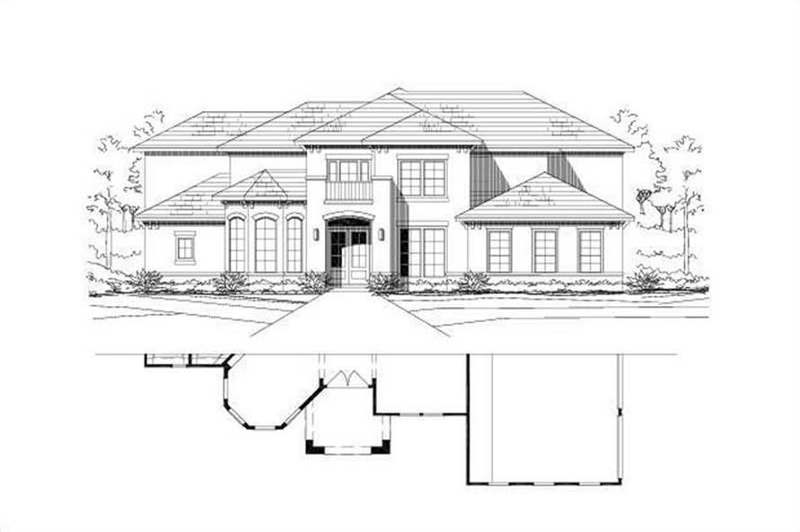 5-Bedroom, 4398 Sq Ft Mediterranean Home Plan - 156-1067 - Main Exterior