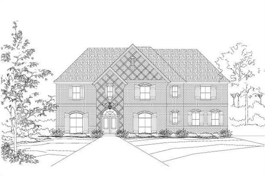 4-Bedroom, 4176 Sq Ft Luxury Home Plan - 156-1068 - Main Exterior