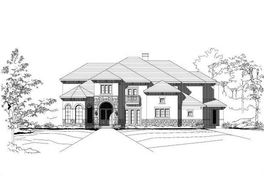 5-Bedroom, 5503 Sq Ft Spanish Home Plan - 156-1069 - Main Exterior