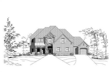 4-Bedroom, 4515 Sq Ft Country Home Plan - 156-1072 - Main Exterior