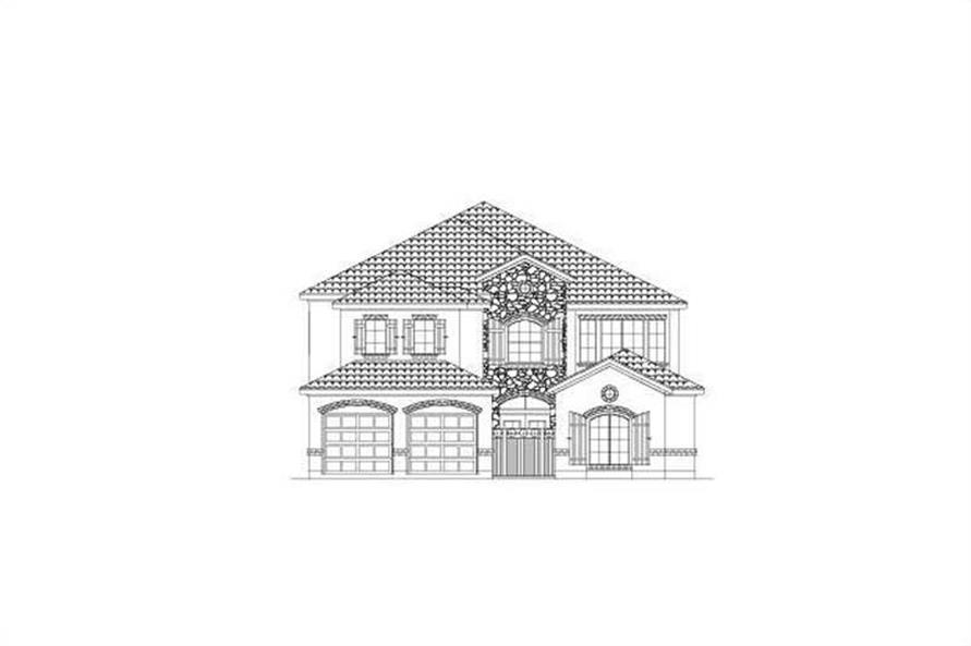 3-Bedroom, 3794 Sq Ft Spanish Home Plan - 156-1073 - Main Exterior