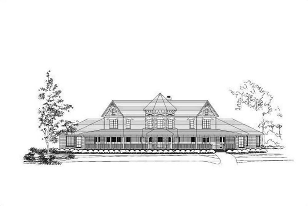 Front elevation of Country home (ThePlanCollection: House Plan #156-1074)