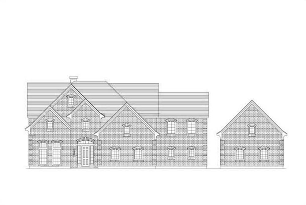 Front elevation of Luxury home (ThePlanCollection: House Plan #156-1076)