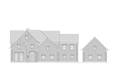 5-Bedroom, 7706 Sq Ft Luxury Home Plan - 156-1076 - Main Exterior