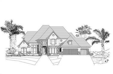 5-Bedroom, 4842 Sq Ft Luxury Home Plan - 156-1077 - Main Exterior