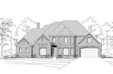4-Bedroom, 3904 Sq Ft Luxury House Plan - 156-1078 - Front Exterior