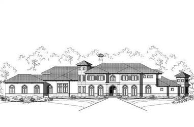 4-Bedroom, 6691 Sq Ft Mediterranean Home Plan - 156-1079 - Main Exterior