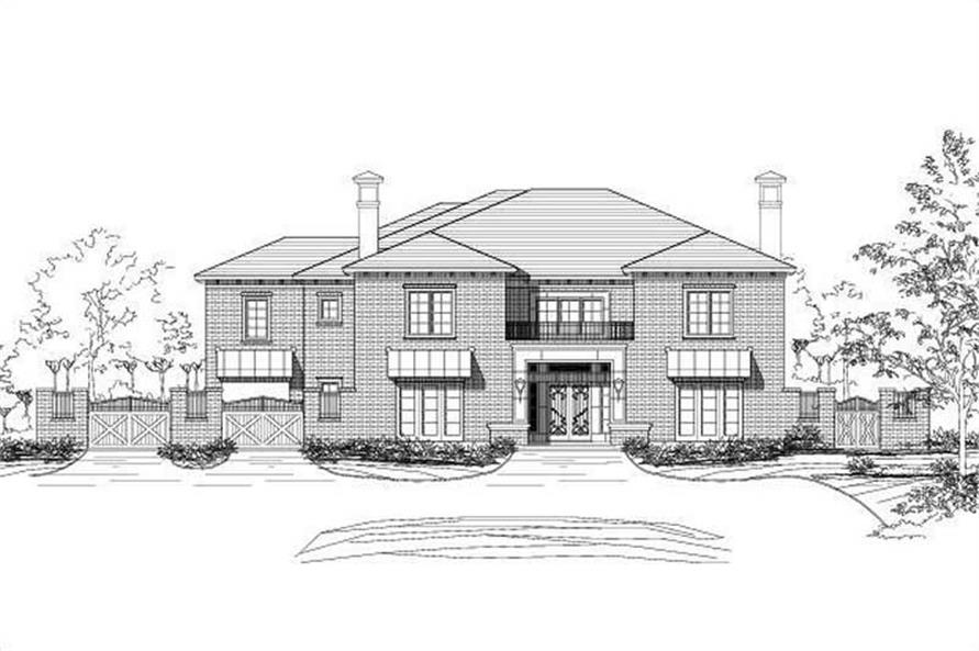 5-Bedroom, 7902 Sq Ft Luxury Home Plan - 156-1080 - Main Exterior