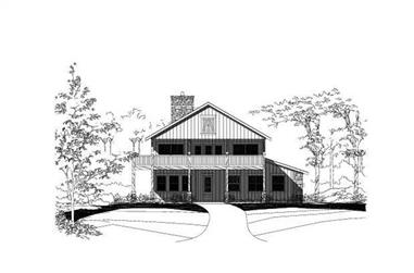 3-Bedroom, 3602 Sq Ft Country Home Plan - 156-1081 - Main Exterior