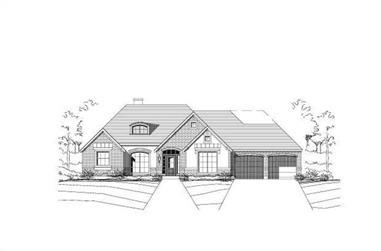 3-Bedroom, 2747 Sq Ft Ranch Home Plan - 156-1082 - Main Exterior