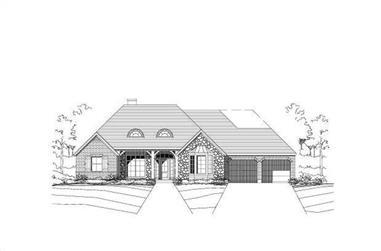 3-Bedroom, 2747 Sq Ft Ranch Home Plan - 156-1083 - Main Exterior