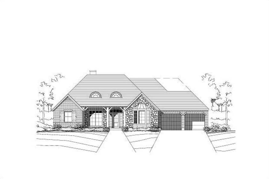 3-Bedroom, 2747 Sq Ft Ranch Home Plan - 156-1083 - Main Exterior