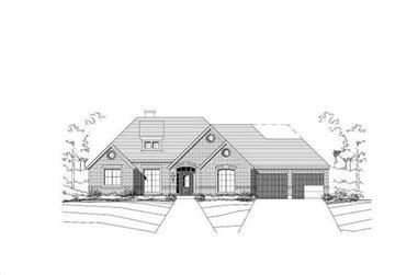 3-Bedroom, 2747 Sq Ft Ranch Home Plan - 156-1084 - Main Exterior