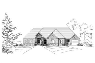 3-Bedroom, 2506 Sq Ft Country House Plan - 156-1087 - Front Exterior