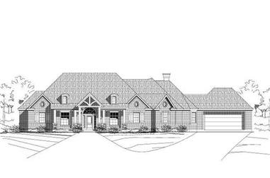 4-Bedroom, 2930 Sq Ft Country House Plan - 156-1088 - Front Exterior