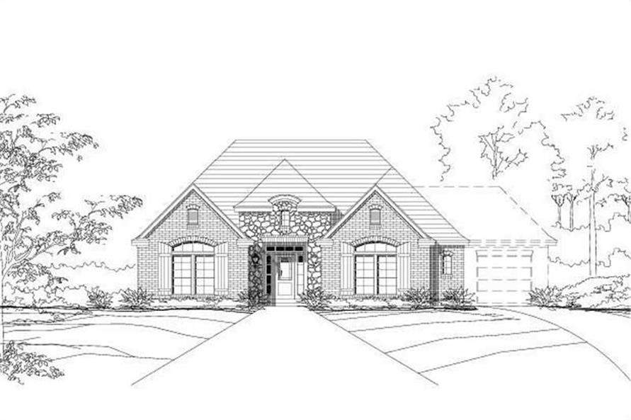 3-Bedroom, 1773 Sq Ft Country House Plan - 156-1089 - Front Exterior