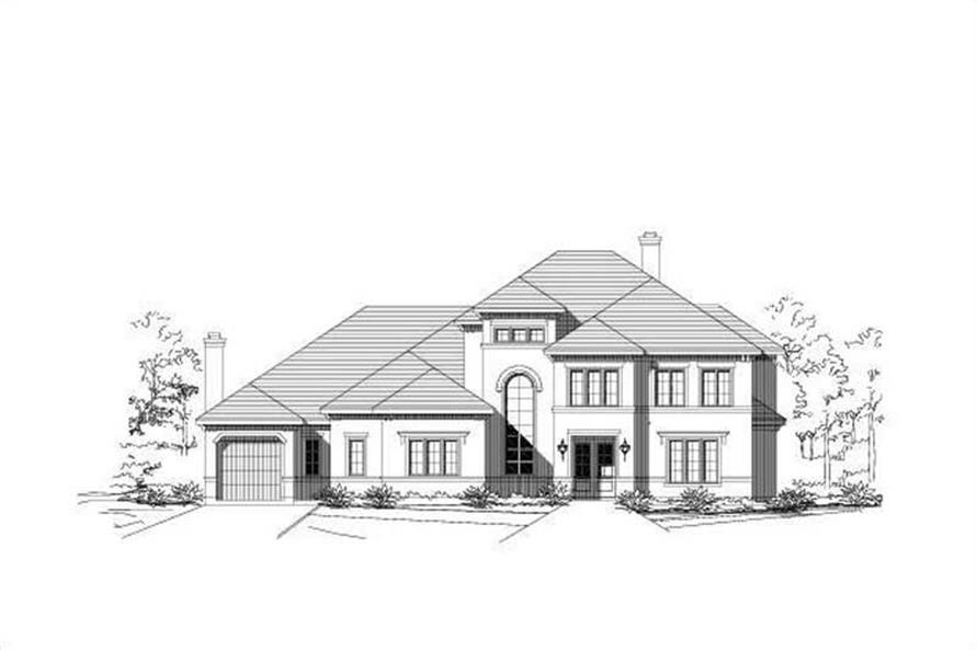 4-Bedroom, 4485 Sq Ft Mediterranean House Plan - 156-1090 - Front Exterior