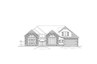 5-Bedroom, 4751 Sq Ft Country Home Plan - 156-1091 - Main Exterior