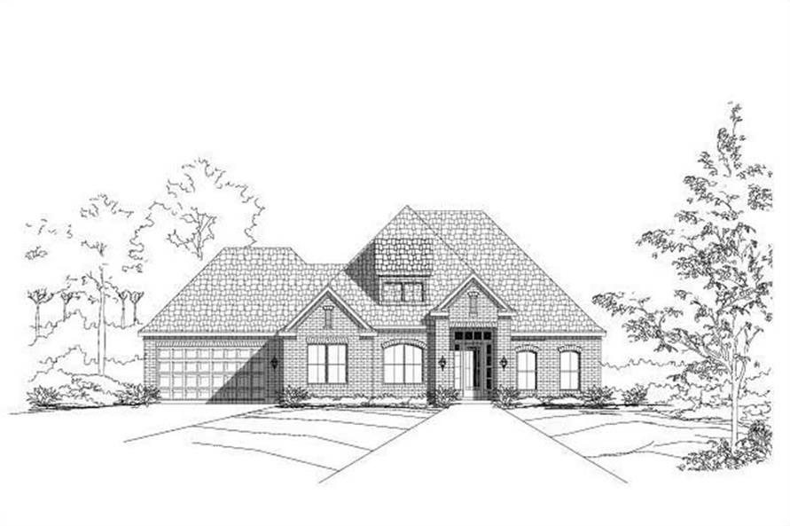 5-Bedroom, 2863 Sq Ft Traditional House Plan - 156-1092 - Front Exterior
