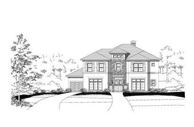 4-Bedroom, 4317 Sq Ft Country House Plan - 156-1093 - Front Exterior