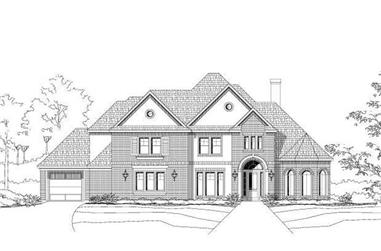 4-Bedroom, 4295 Sq Ft Luxury House Plan - 156-1094 - Front Exterior