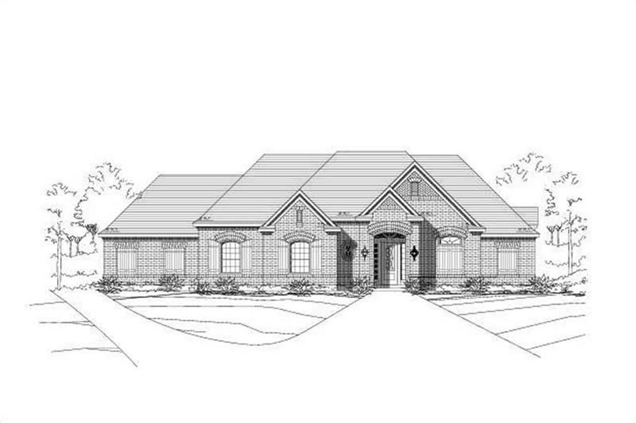 4-Bedroom, 3111 Sq Ft Ranch House Plan - 156-1095 - Front Exterior