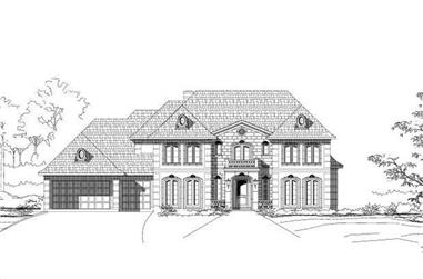 4-Bedroom, 4027 Sq Ft Luxury House Plan - 156-1096 - Front Exterior