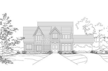 4-Bedroom, 3918 Sq Ft Luxury Home Plan - 156-1101 - Main Exterior