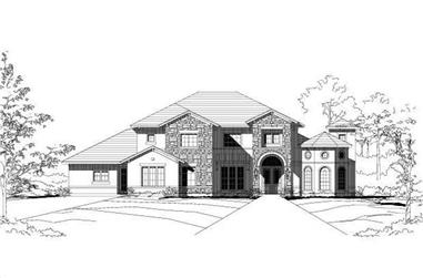 5-Bedroom, 4716 Sq Ft Tuscan House Plan - 156-1102 - Front Exterior
