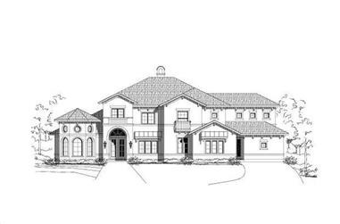 5-Bedroom, 4710 Sq Ft Mediterranean House Plan - 156-1103 - Front Exterior