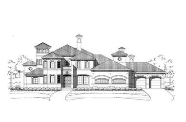 4-Bedroom, 4773 Sq Ft Mediterranean Home Plan - 156-1104 - Main Exterior