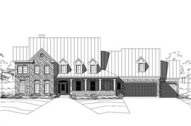5-Bedroom, 4751 Sq Ft Country Home Plan - 156-1105 - Main Exterior