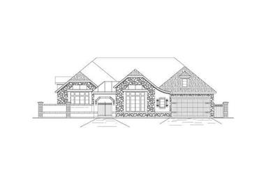 3-Bedroom, 3566 Sq Ft Tuscan House Plan - 156-1107 - Front Exterior